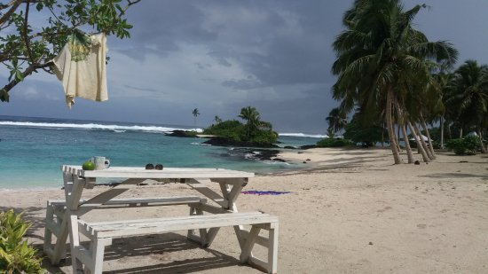 Upolu, Samoa: View from front door of fale.