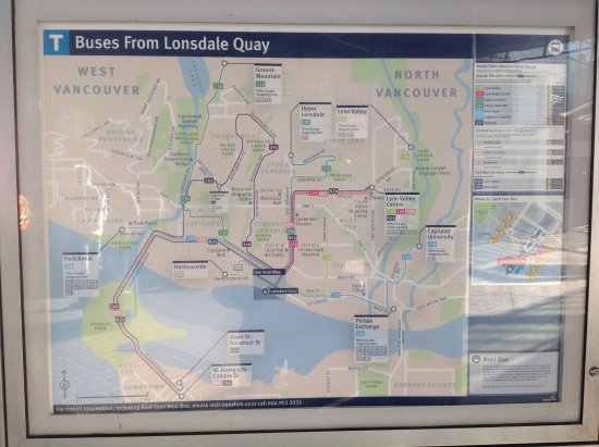 Nord-Vancouver, Canada: Buses from the Quay into North Vancouver