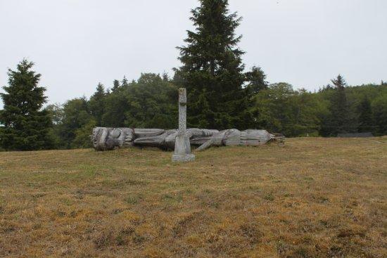 Alert Bay, Canada: Fallen totem