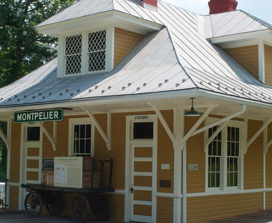 "Montpelier Station, VA: The 1910 Train Depot at Montpelier houses the self-guided exhibition ""In the Time of Segregation"
