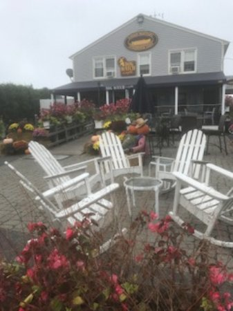 Stonington, CT: Outside view of the Dog Watch Cafe... so cozy