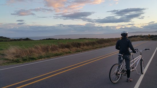 View from Whidbey Island to Port Townsend. Tandem rented from Port Townsend Cyclery worked well.