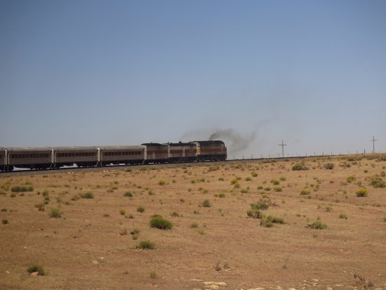 Williams, Αριζόνα: The train heading towards the Grand Canyon