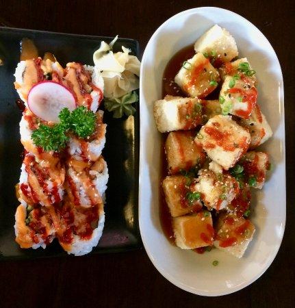 Agassiz, Canadá: spicy tuna roll, agadashi tofu