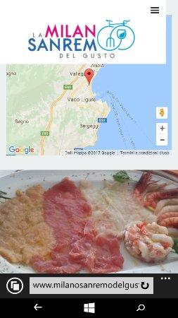 Vado Ligure, Italy: Caviale di uova di pesce,gamberi Rossi e rosa Sanremo.