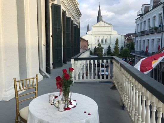 Bourbon Orleans Hotel: Set up for my proposal