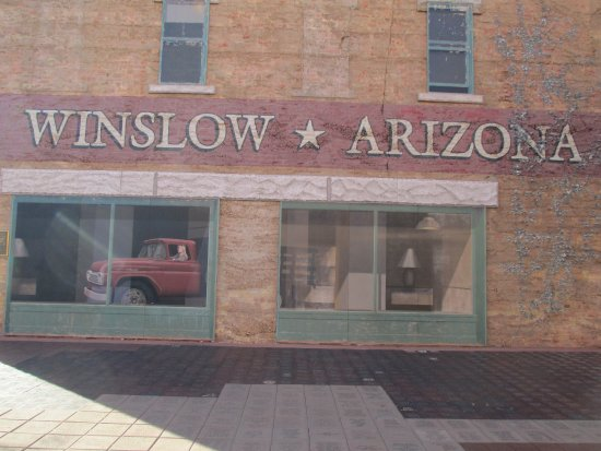Winslow, AZ: A 2 story mural depicted the girl in the flatbed Ford.