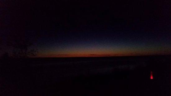 Mackinaw City, MI: Sunset from the park