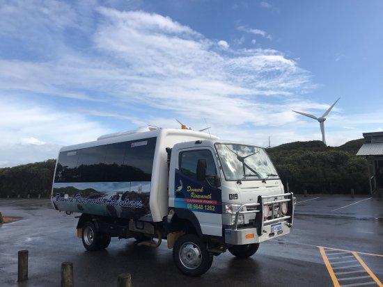 Denmark, Australia: 4x4 Bus Albany wind farm