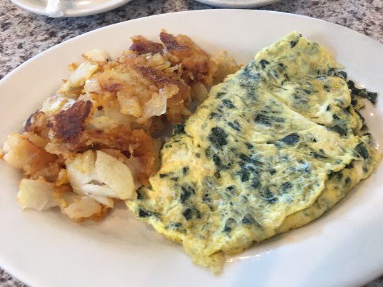 Elmsford, Estado de Nueva York: Florentine Benedict and spinach omelette