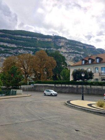 Telepherique du Saleve: The bus stops( Veyrier -Douane) near the France /Swiss border