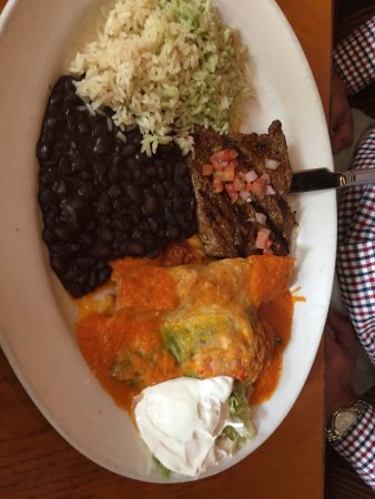 Fairfax, VA: Steak, enchilada, chili relleno combo