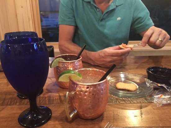 """Lake Tomahawk, WI: I'm had a """"plain"""" Moscow mule. Absolutely delicious!"""