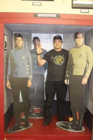 """Riverside, IA: Photo Op with the """"Original Crew"""" in a Transporter Mockup"""