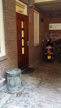 Vlaardingen, The Netherlands: The guest front door, in a little alcove off the laneway