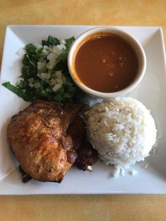 Piu Bello : Porkchop w/ Rice and Beans