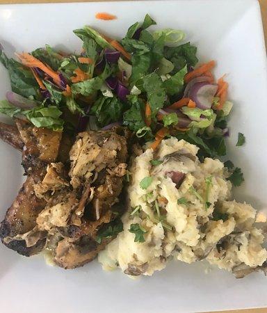 Piu Bello : Baked Chicken w/ Loaded Mashed Potatoes! SOOO GOOD!