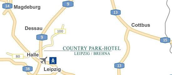 Brehna, Deutschland: location sketch