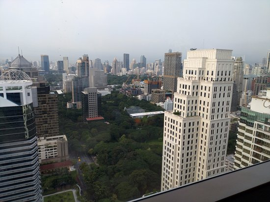 The Okura Prestige Bangkok: Room 3311 looking out over the park