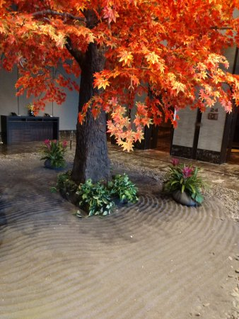 The Okura Prestige Bangkok: Lobby display for autumn