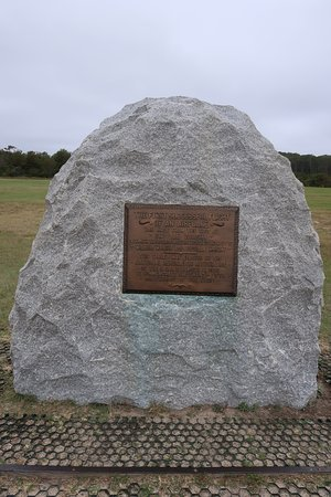 Wright Brothers National Memorial: Look for the photo of who was standing next to this when you visit.