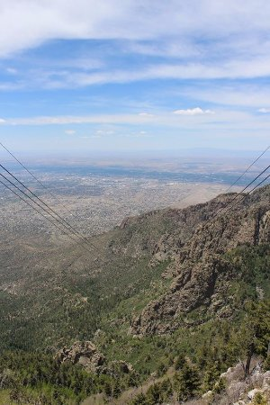 Sandia Peak Tramway: view from the top