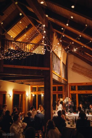 Alpine Lodge Fernie: Wedding reception in the great room at the Lodge.
