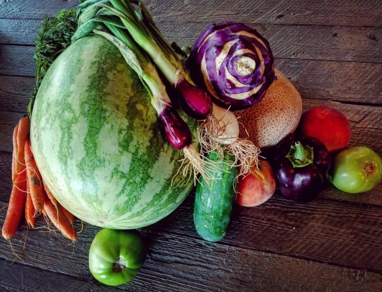 Montrose, CO: Assorted local produce