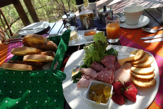 Jaci's Safari Lodge: Part 1 of brunch - cold cuts with bread