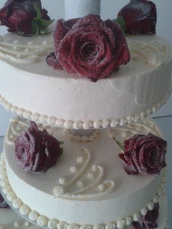 Hochzeitstorte Mit Frischen Rote Rosen Bild Von Cafe Ell Sankt