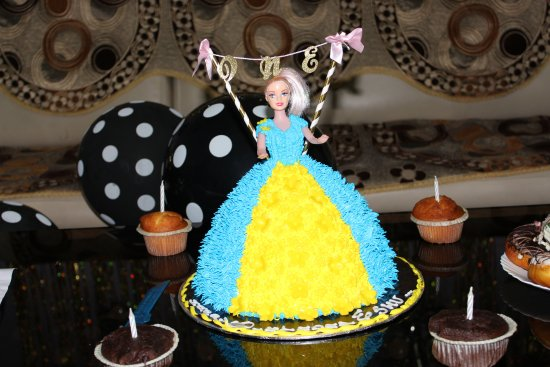 Enjoyable My Daughters First Birthday Cake Barbie Cake With Chocolate Funny Birthday Cards Online Barepcheapnameinfo