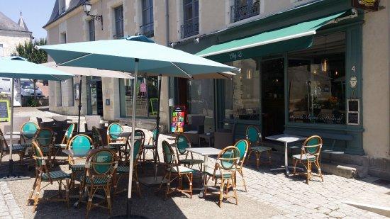 Le Grand-Pressigny, Frankrike: Terrasse Chez L