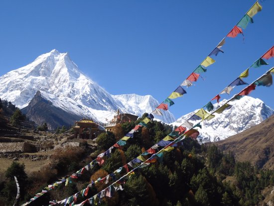 Bagmati Zone, Nepal: Mount Manaslu eight highest peak of the world is one of the popular trekking destination Nepal.