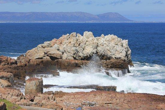 Hermanus, South Africa: view across Walker Bay towards Gansbaai
