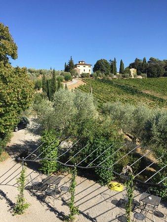Villa di Monte Solare: view from terrace outside room