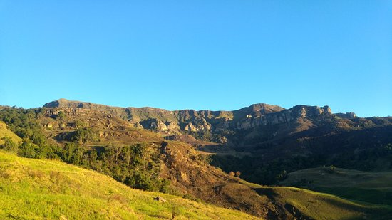 Bergville, Afrika Selatan: View from Chalet 2
