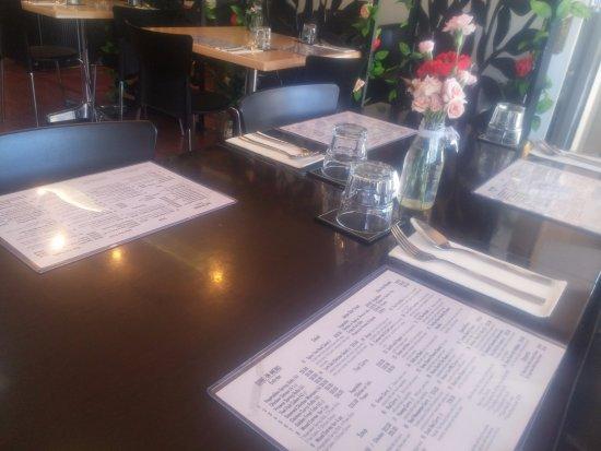 Burnie, Australia: Table and menu