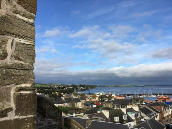 Stranraer, UK: View from castle in the town square