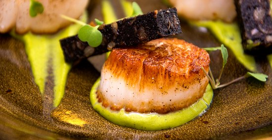 West Witton, UK: Scallops
