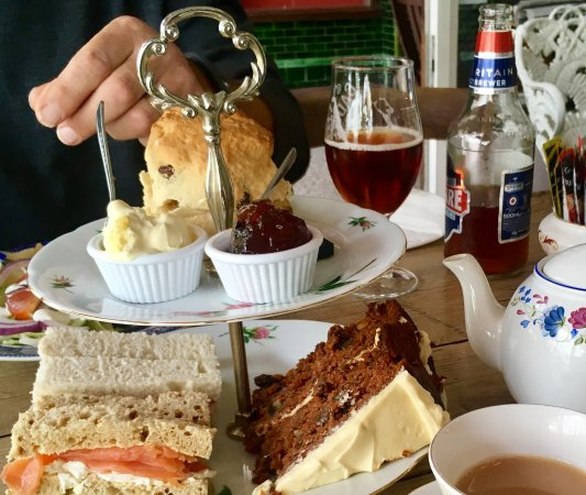 Fredericks Tea Room: This was our cream tea/lunch - extremely yummy 😋