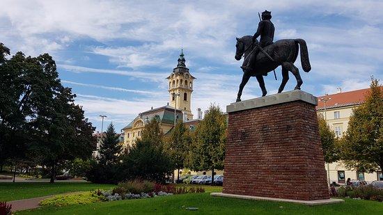 Szeged, Magyarország: Statue of King Bela IV.