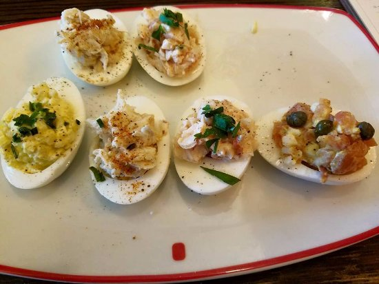 Potomac, MD: Seafood Deviled Eggs