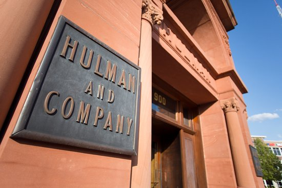 Terre Haute, IN: Hulman & Company sign on our exterior building at 9th & Wabash