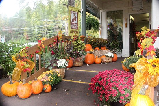 Great Smoky Arts and Crafts Community : Halloween decorations along the arts loop
