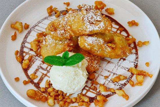 Golden Banana Fritters With Vanilla Ice Cream Picture Of Suda Thai Cafe Restaurant London Tripadvisor