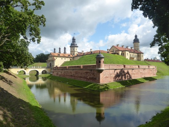 Nesvizh, Belarus: the castle and its moat
