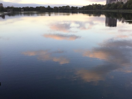 Dusk in Central Park at the Reservoir