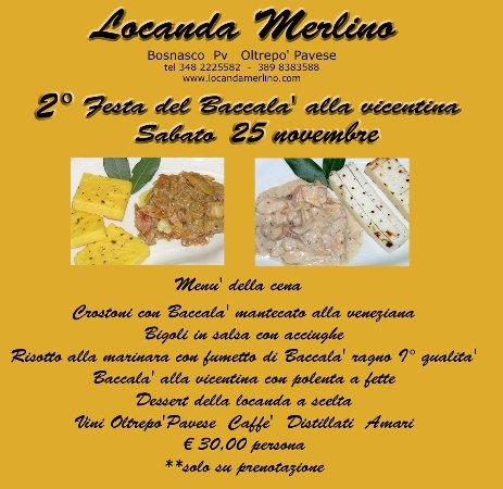 Bosnasco, Italien: 2° Festa del Baccala' 2017