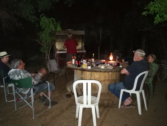 Hopetown, Νότια Αφρική: Rustic braai area in lovely garden at Die Stalle