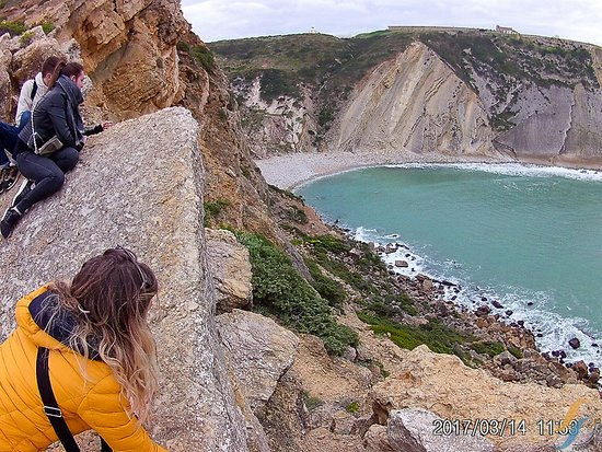 Bélem, Portogallo: On the 2017/03/14.Arrabida National park, Espichel cape, Lagosteiros beach cliffs.
